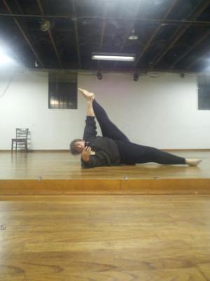 Heel stretch right side.