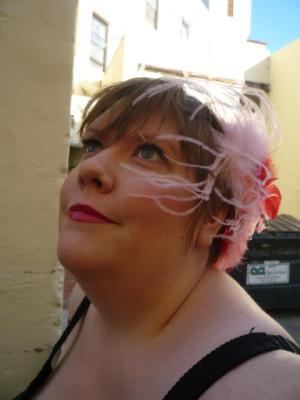 Hair piece by Matilda St. John.